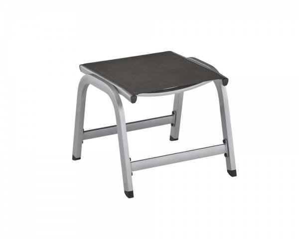 kettler easy hocker silber anthrazit aluminium online. Black Bedroom Furniture Sets. Home Design Ideas