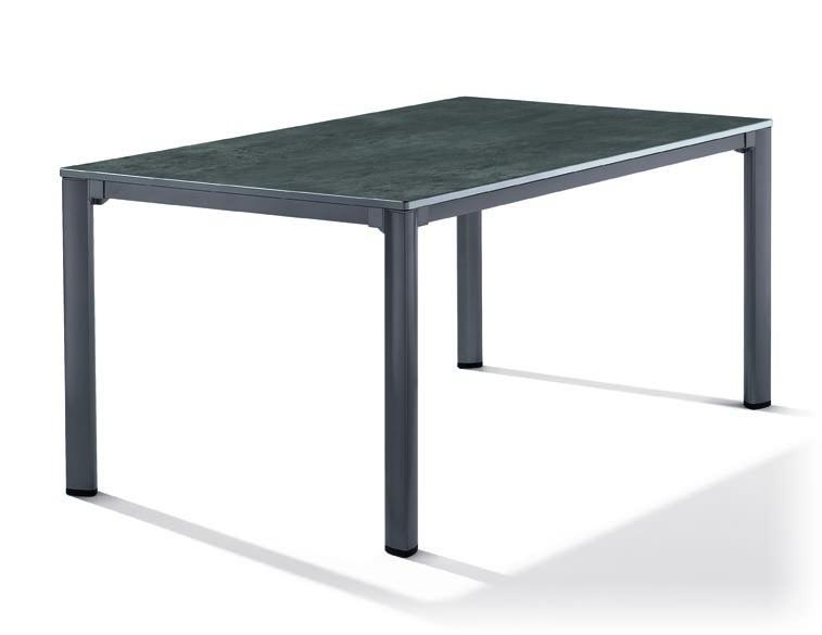 sieger gartentisch 165x95cm gestell eisengrau. Black Bedroom Furniture Sets. Home Design Ideas