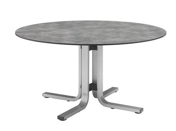 kettler float dining tisch hpl rund 120 cm silber online kaufen beckhuis. Black Bedroom Furniture Sets. Home Design Ideas
