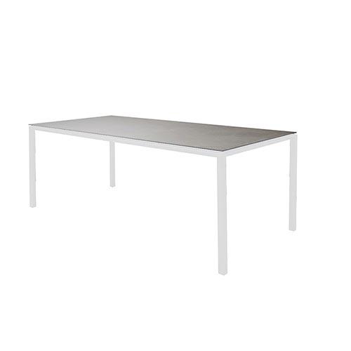 cane line pure gestell zum esstisch 200x100 white aluminium. Black Bedroom Furniture Sets. Home Design Ideas