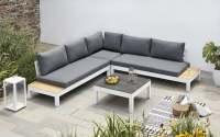 Outdoorlabel 173 Lounge Set Aluminium/Bombay anthracite  Weiß