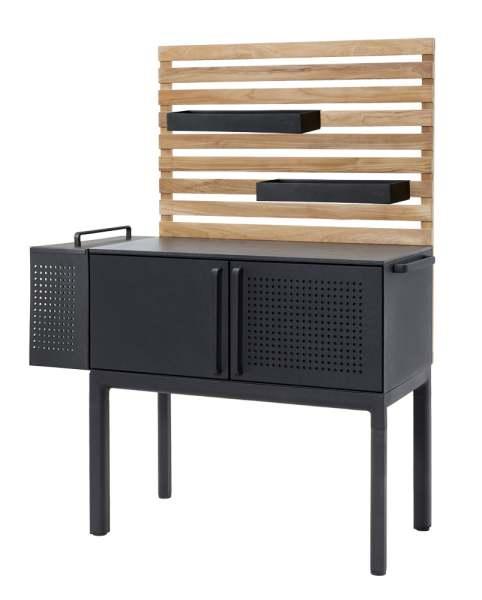 Cane-Line Drop Küchen Modul inkl. 3 Böden + Wand