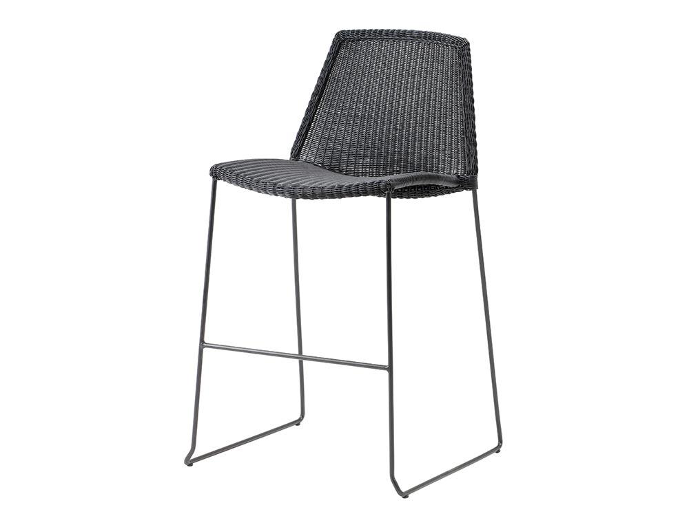 cane line breeze barhocker schwarz. Black Bedroom Furniture Sets. Home Design Ideas