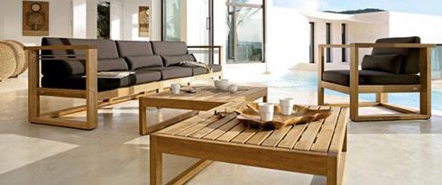 Lounge Sets aus Holz