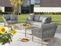 Best Samos Garten Lounge 4-tlg. Grandis/Grau