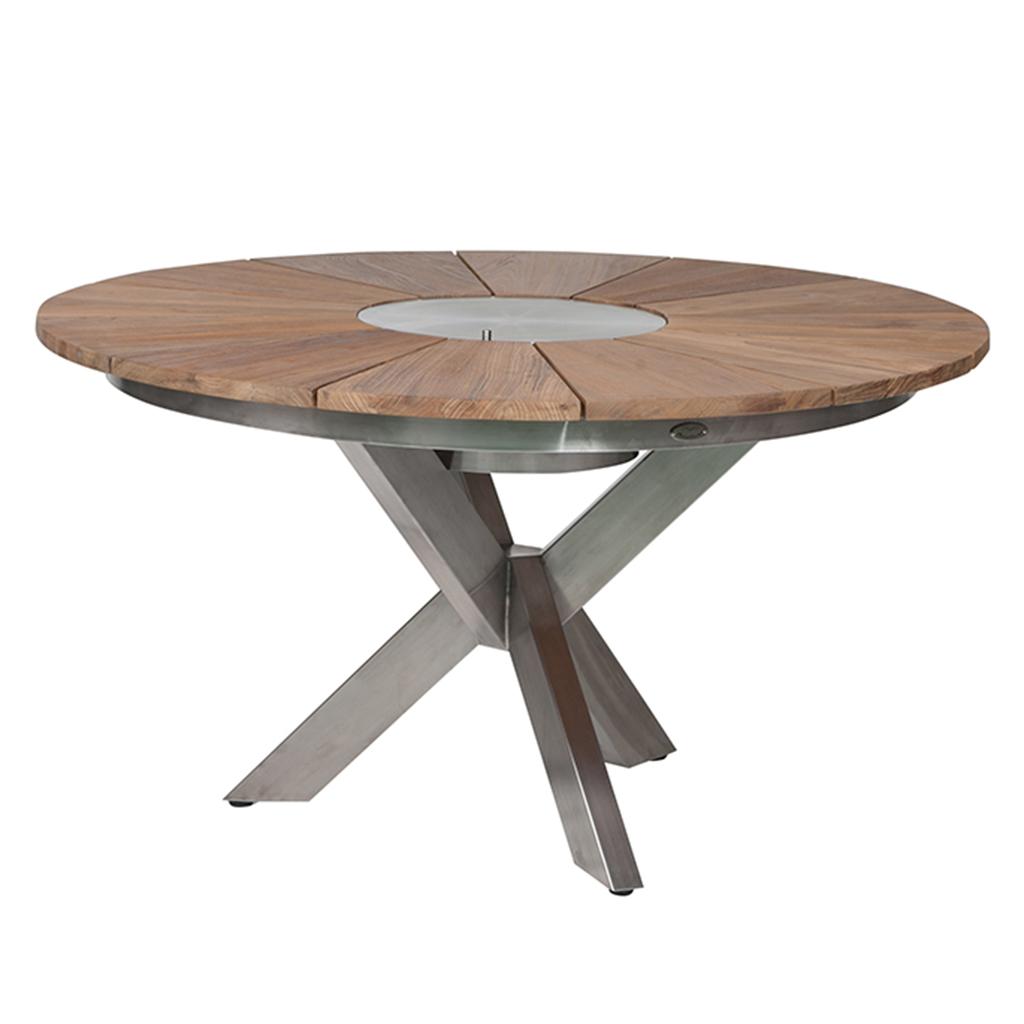 diamond garden lyon tisch edelstahl recycled teak online kaufen beckhuis. Black Bedroom Furniture Sets. Home Design Ideas