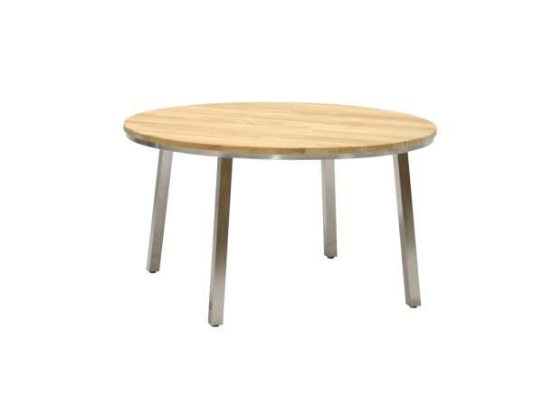 4Seasons Maison Tisch Edelstahl/Teak Ø135 cm