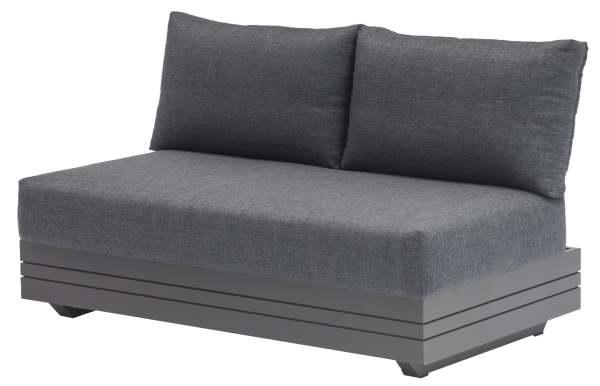 Zebra Cubo Lounge 2-Sitzer Aluminium/Olefin