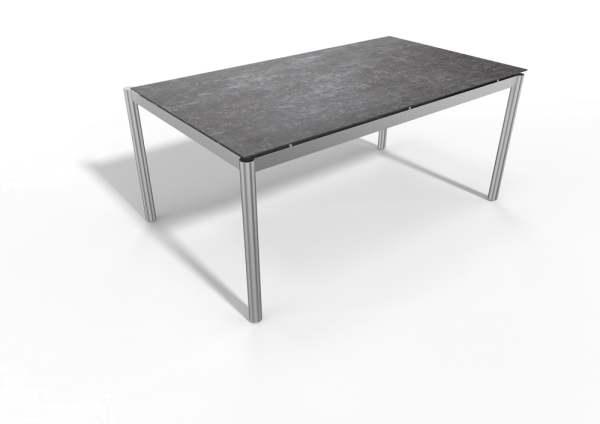 Stern Gartentisch Edelstahl Rundrohr/Dekton Lava