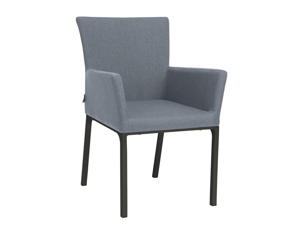 stern artus dining sessel aluminium anthrazit outdoor stoff blau online kaufen beckhuis. Black Bedroom Furniture Sets. Home Design Ideas