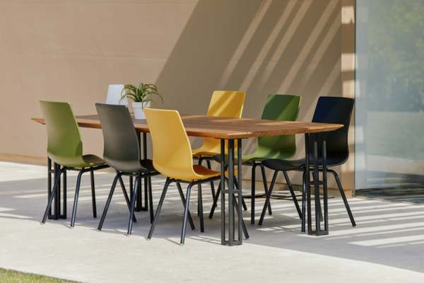 Hartman Sophie Rondo Dining Wave Stuhl Set 7tlg inkl. Amsterdam Tisch 240cm