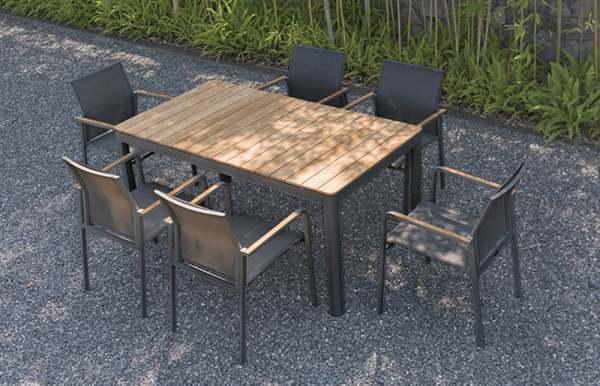 Zebra Bee Gartenmöbel Set 7tlg. Inkl. Bee Tisch 160cm