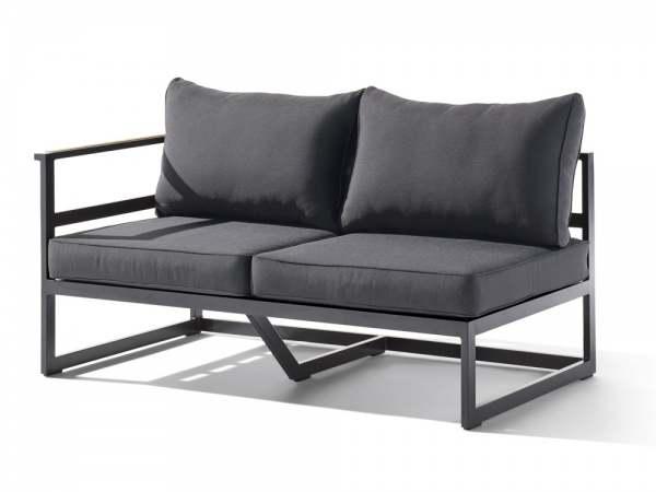 sieger sydney lounge 2 sitzer sofa links eisengrau grau online rh beckhuis com