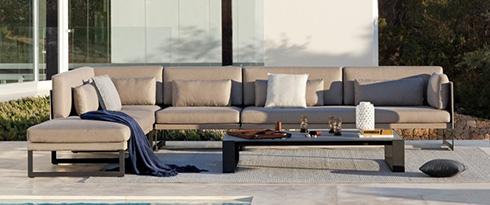 Lounge Sets mit Stoffbezug
