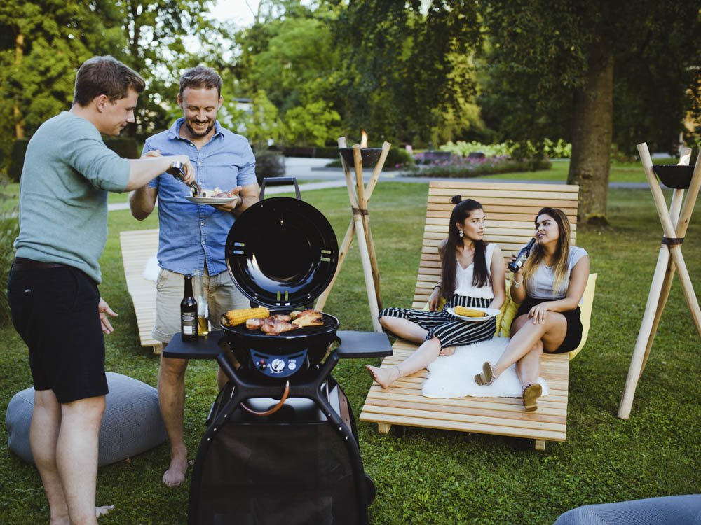 outdoorchef p 420 g minichef station schwarz online. Black Bedroom Furniture Sets. Home Design Ideas