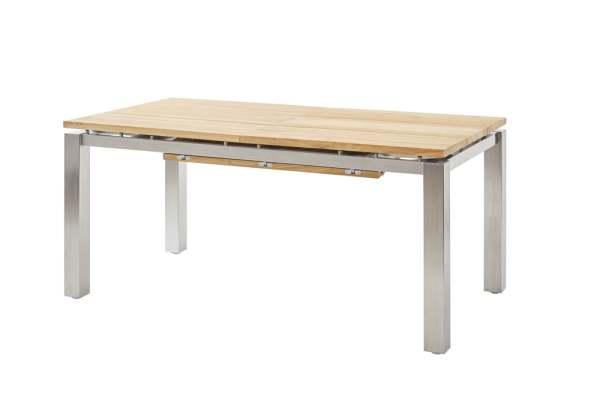 Diamond Garden Levanto Ausziehtisch Edelstahl/Recycled Teak 3 Planken