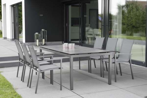 Stern Evoee Gartenmöbelset 8tlg. mit Aluminium Tisch 200x100 cm