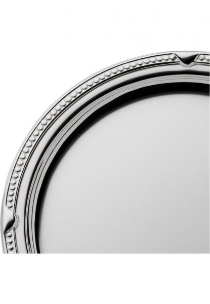 Robbe & Berking Gläsertablett Französisch-Perl 925 Sterling-Silber