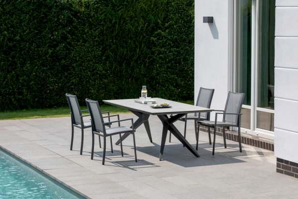 Niehoff Tina Gartenmöbelset 5tgl. mit Gartentisch Vagos 180x95 cm