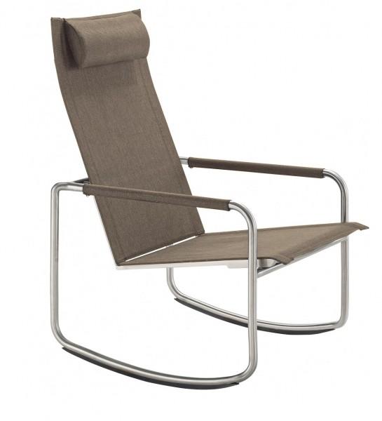 Solpuri Jardin Rocking Deck Chair Edelstahl