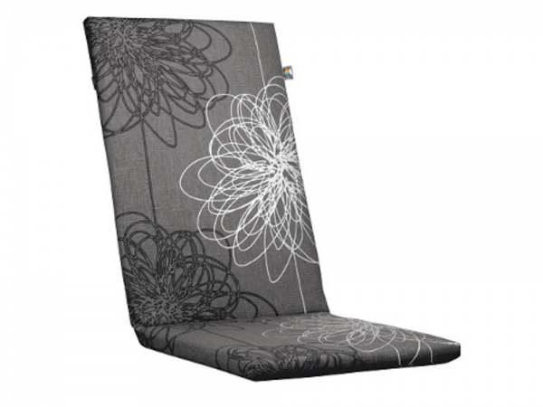 Kettler Premium Polsterauflage Dessin 519 Blume Grau
