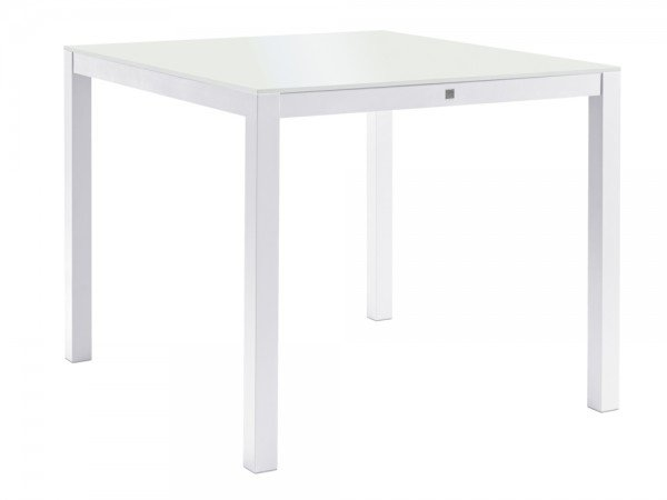 Sifas Kwadra Dining-Tisch 100x90 cm inkl. Glasplatte