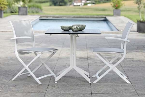Stern Camillo Gartenmöbelset 3tlg. mit Tisch 80x80 cm