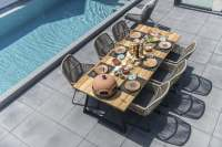 4Seasons Ramblas Dining Set 7 tlg. mit Basso Aluminium Tisch 240x100 cm