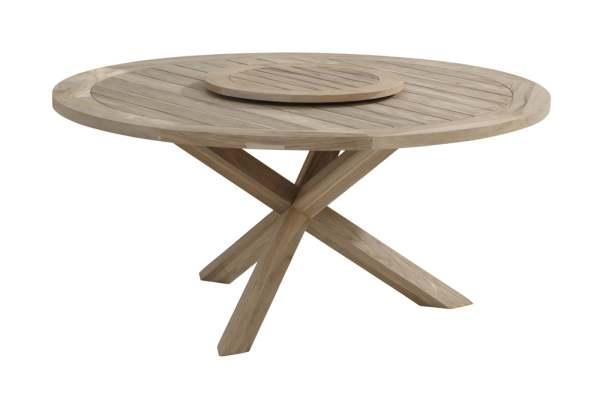 4Seasons Taste Louvre Dining Tisch Teak Platte Ø160 cm