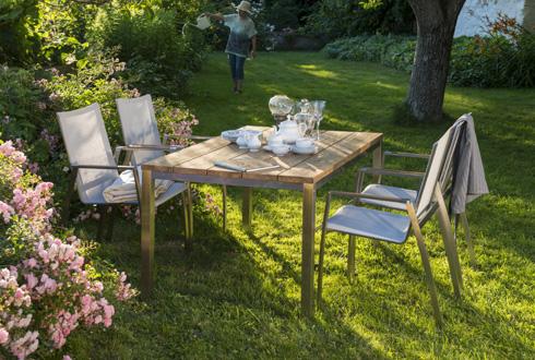 Teakholz gartenmöbel modern  Gartenmöbel Edelstahl online kaufen - Stühle, Tische & Sets
