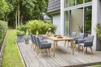 Diamond Garden Arona/Santander Gartenmöbelset 7tlg. inkl. 3 Planken Tisch 220x100 cm