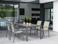 Stern New Levanto Gartenmöbel Set Aluminium Anthrazit 4/6-Sitzer 4 Personen, Grüne Stühle