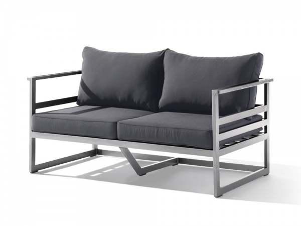 sieger melbourne lounge 2 sitzer sofa graphit grau. Black Bedroom Furniture Sets. Home Design Ideas