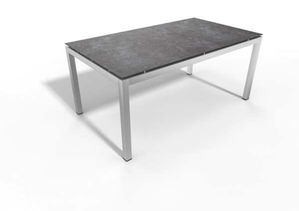 Stern Gartentisch Edelstahl Vierkantrohr/Dekton Lava