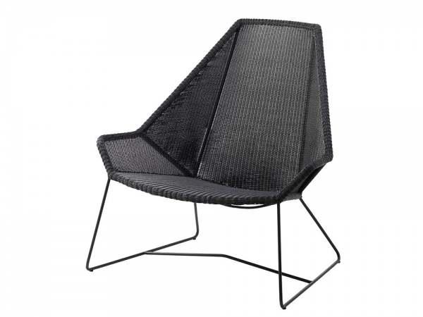 cane line breeze highbacksessel schwarz online kaufen beckhuis. Black Bedroom Furniture Sets. Home Design Ideas