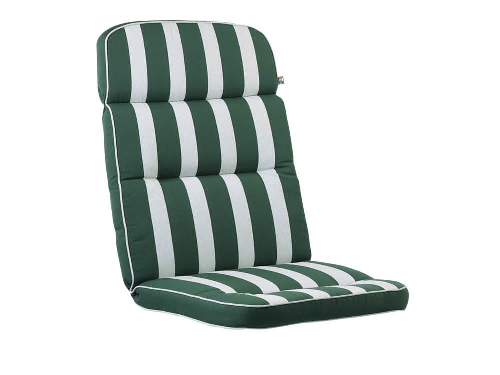 kettler solid polsterauflage dessin 522 streifen gr n. Black Bedroom Furniture Sets. Home Design Ideas