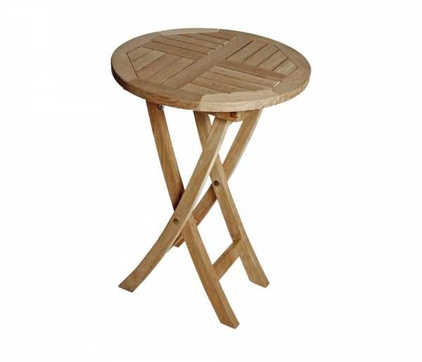 zebra poker tisch edelstahl teak rund 50 cm online kaufen beckhuis. Black Bedroom Furniture Sets. Home Design Ideas