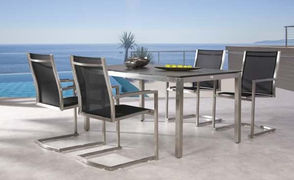 Best Marbella Gartenmöbel Set 5-tlg. mit Tisch 160x90cm