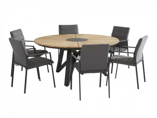 4seasons Panama Gartenmöbel Set 7 Tlg Mit Sunrise Tisch Teak Online