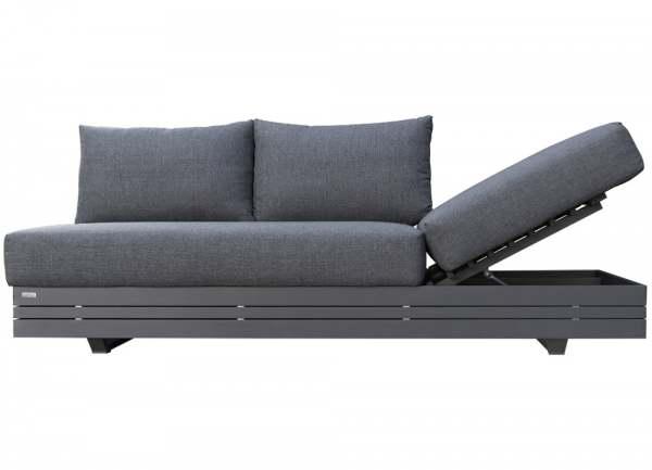 Zebra Cubo Lounge 3-Sitzer Aluminium