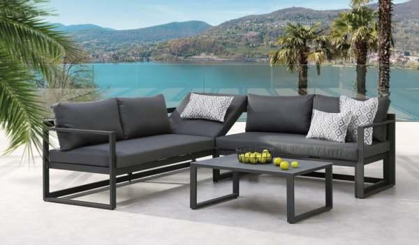 Best Rhodos Garten Lounge 3 Tlg Anthrazitanthrazit