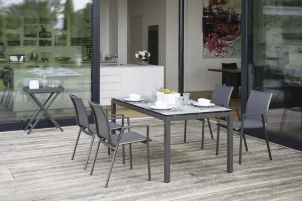 Stern Ron Gartenmöbelset 5tlg. mit Aluminium Tisch 160x90 cm