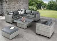 Best Bonaire Garten Lounge 6-tlg. Warm-Grey ohne Loungesessel
