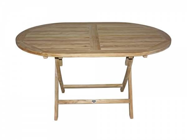 Zebra Poker Tisch Edelstahl/Teak oval