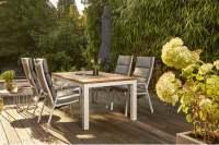 Siena Garden Savona Gartenmöbelset 5 tlg. mit Varina Gartentisch 220x100 cm