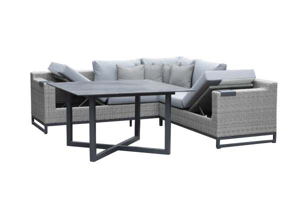 Zebra Soho Dininglounge inkl. Kissen mit Tisch HPL