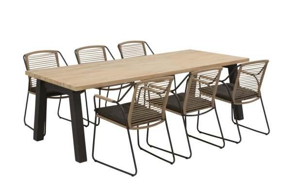 4Seasons Scandic Gartenmöbel Set 7tlg. mit Derby Tisch
