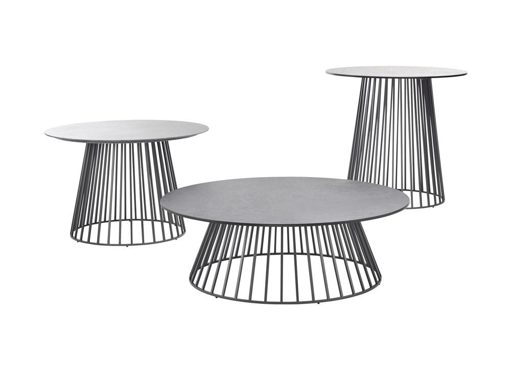 solpuri grid lounge und beistelltisch aluminium. Black Bedroom Furniture Sets. Home Design Ideas